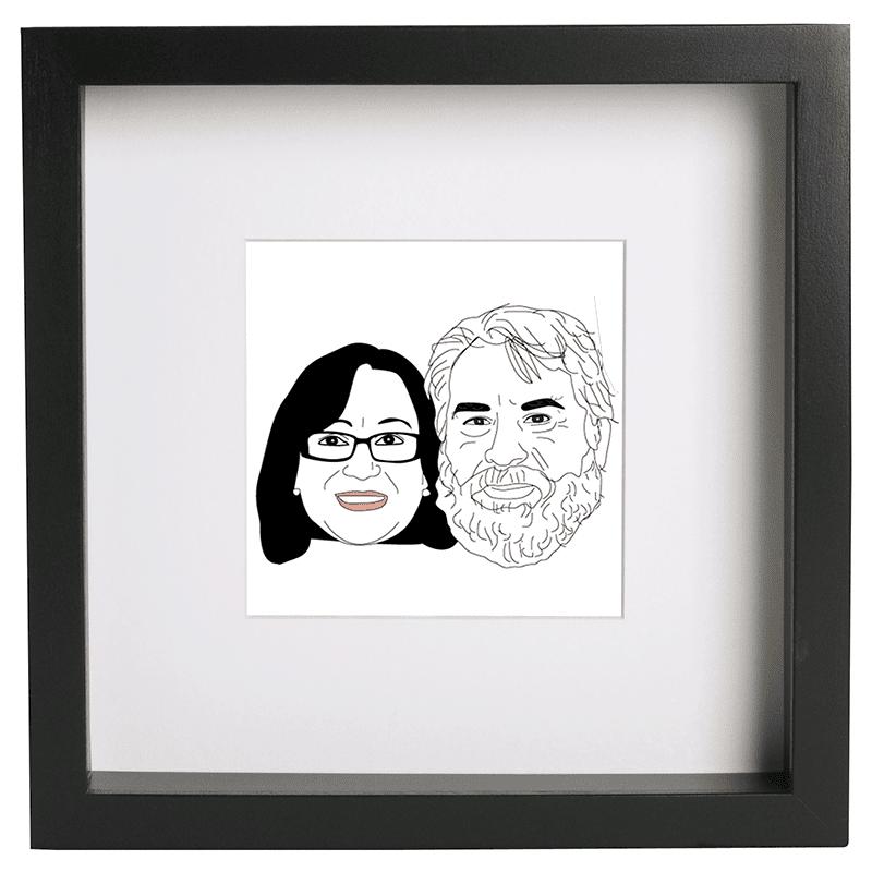 caricatura matrimonio regalo original
