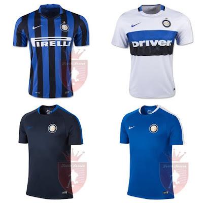 Jersey Inter Milan Home, Away, Training Kit 2015-2016