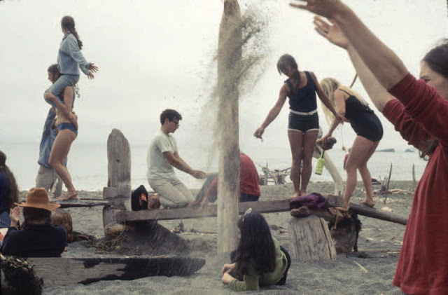 Driftwood Village—Community, Sea Ranch, CA. Experiments in Environment Workshop, July 6, 1968. Courtesy Lawrence Halprin Collection, The Architectural Archives, University of Pennsylvania.