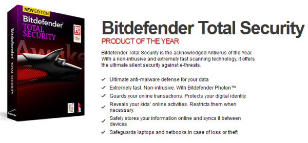 50% OFF The New Bitdefender Total Security 2014 Extremely fast - Non intrusive