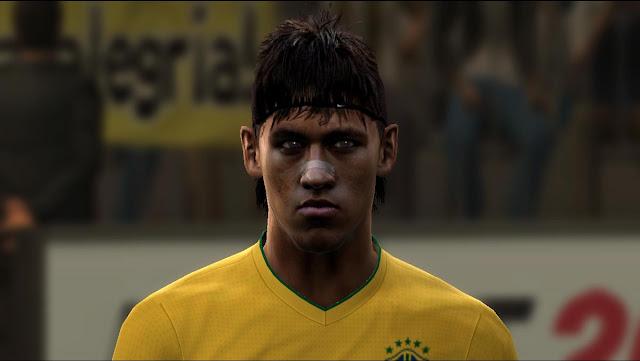 PES 2012 - Neymar Face & Hair   PES Hybrid