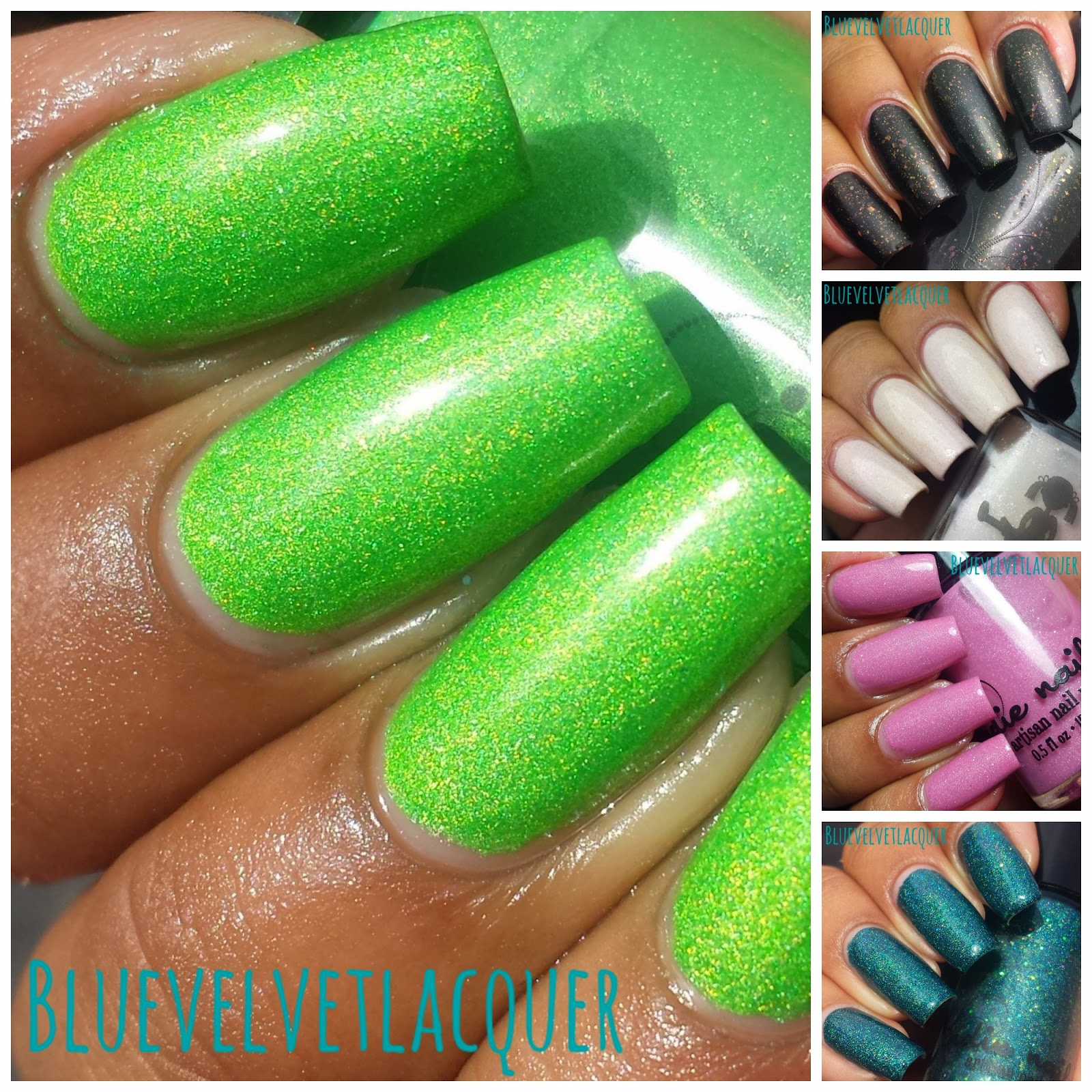 Blue Velvet Lacquer: Jindie Nails: Swatches & Review