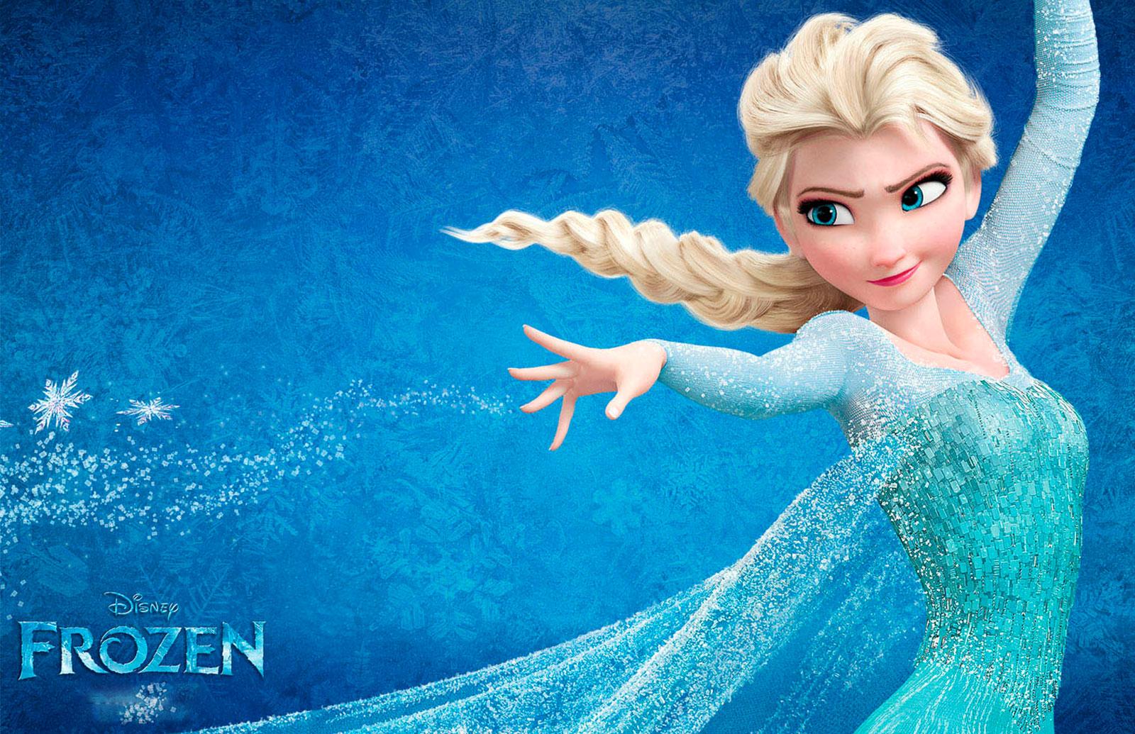 Tarjeta de Navidad Elsa de la película Frozen
