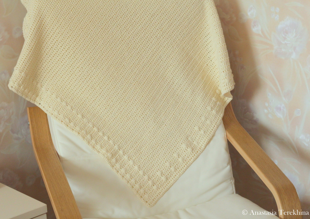 Crochet baby blanket; Вязанный крючком плед