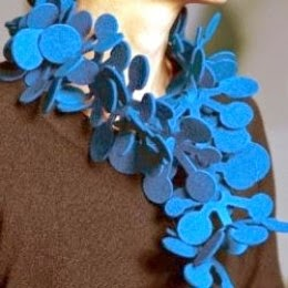 die-cut felt jewelry of lily yung
