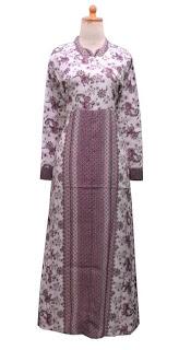 GPL-03 Gamis Batik Cantik Pink Dasar Putih Size XL