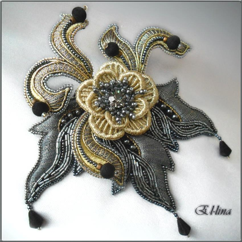 Embroidered Beads: Gorgeous Bead Embroidery By Elena Emelina