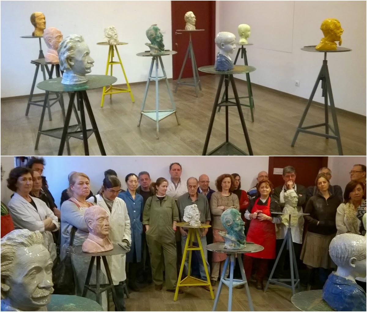 Exposici n rea de escultura 2 curso escuela de for Curso de ceramica madrid