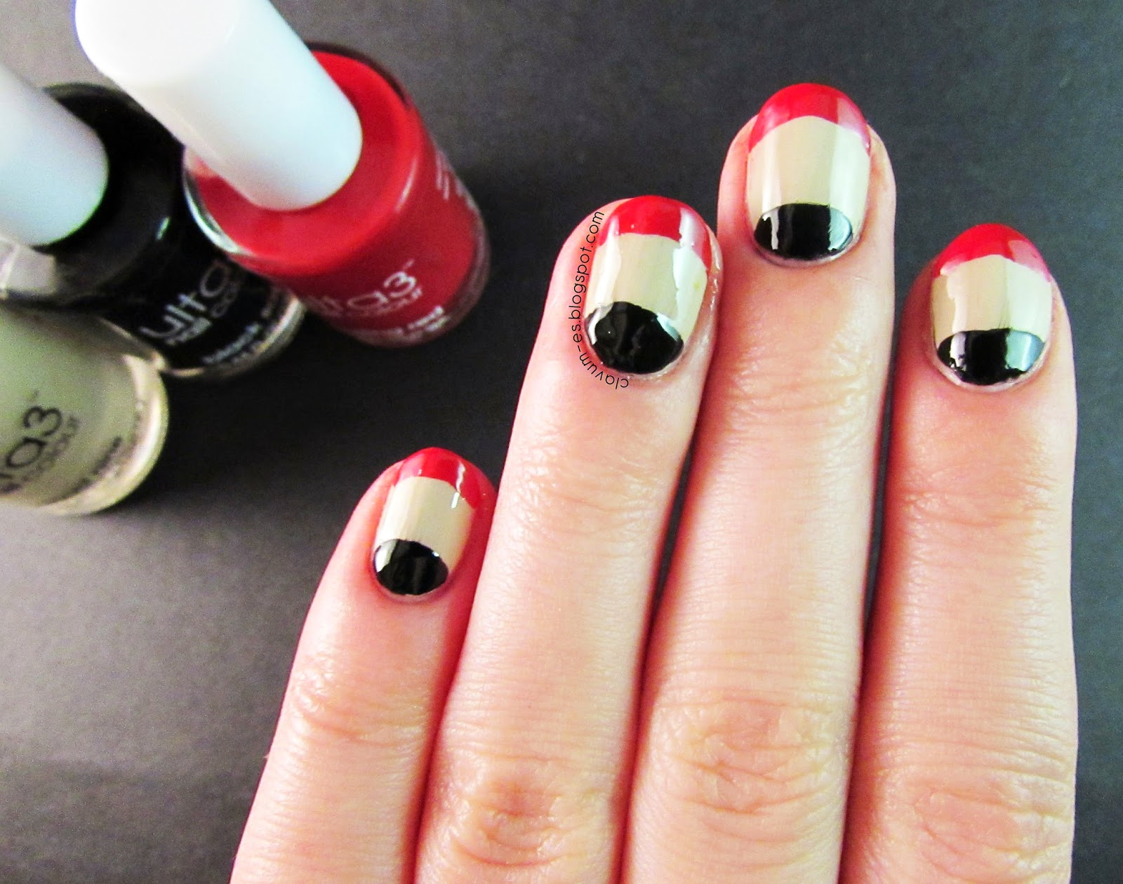 Edgy French Tip Nail Art
