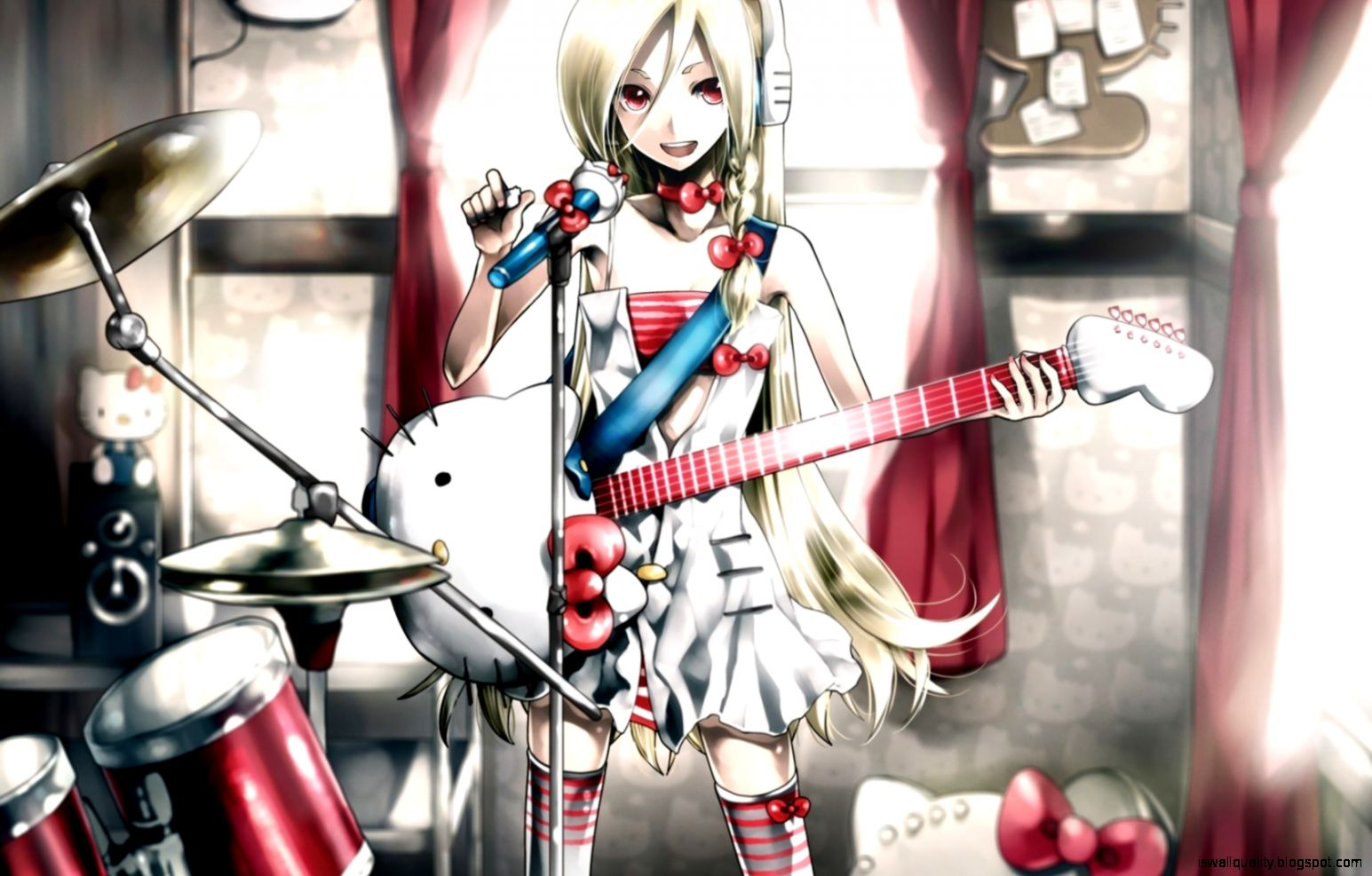 Cute Hd Girls Anime Guitar Wallpaper Wallpapers Quality