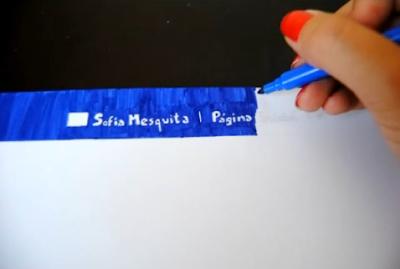 Sofia Mesquita procura emprego de forma original