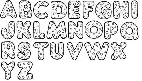 Molde de letras del abecedario grandes - Imagui