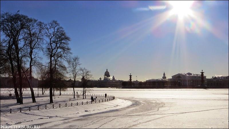Петербург Николая Агнивцева пейзаж Невы зимой