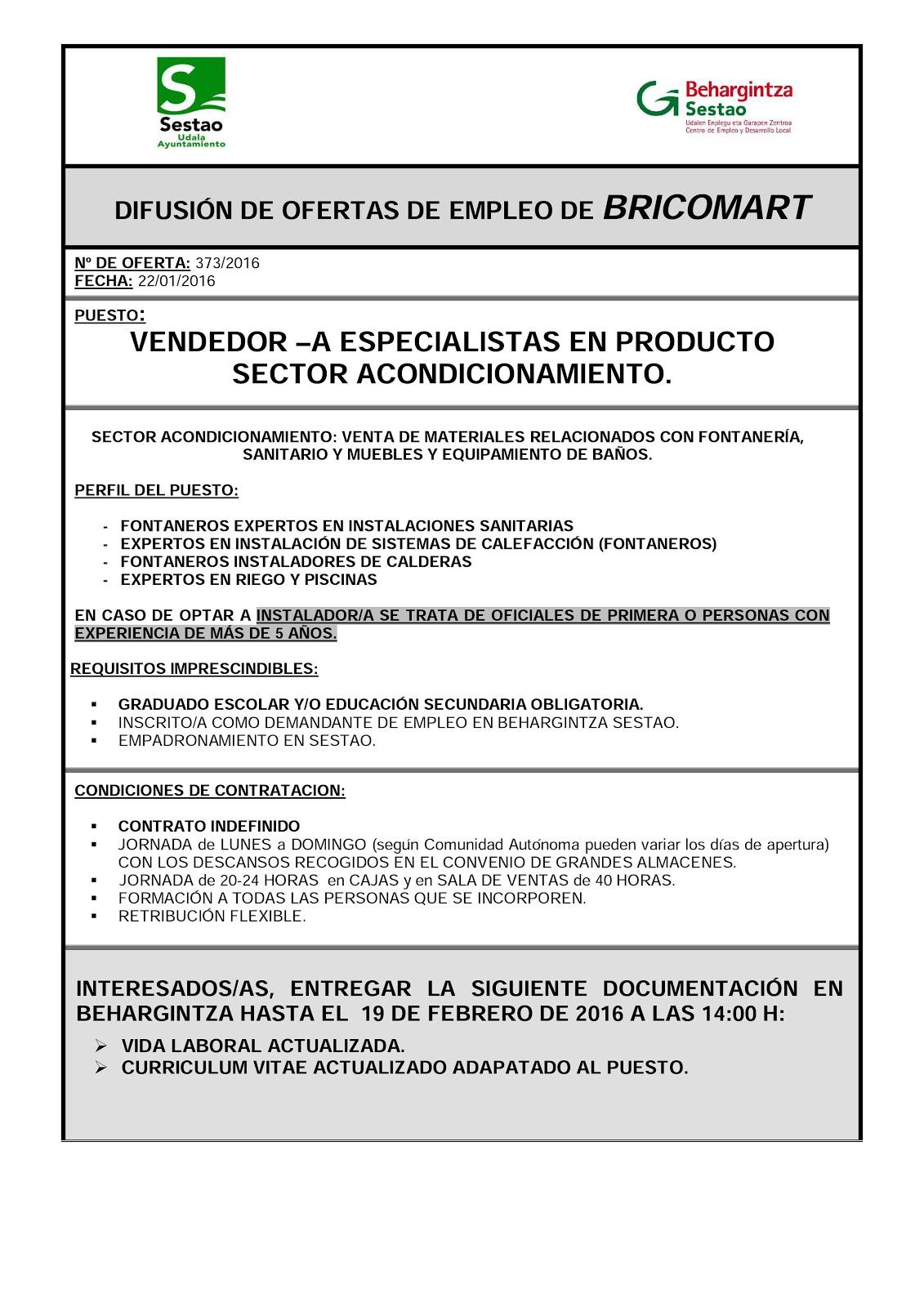Behargintza sestao for Ofertas de empleo banco exterior