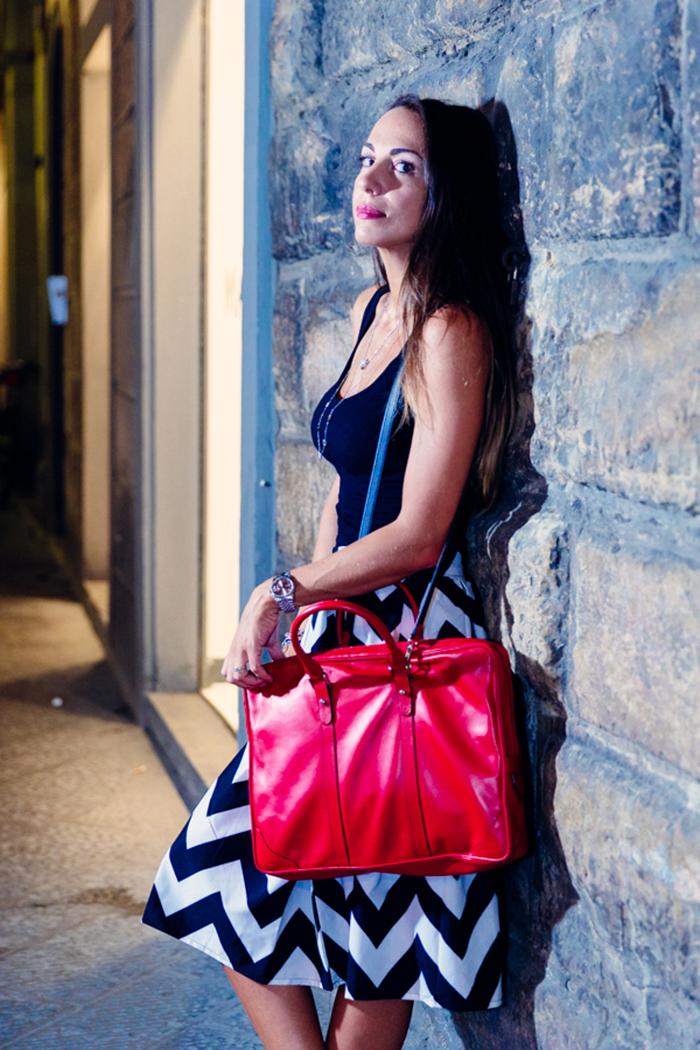 borsa da lavoro rossa