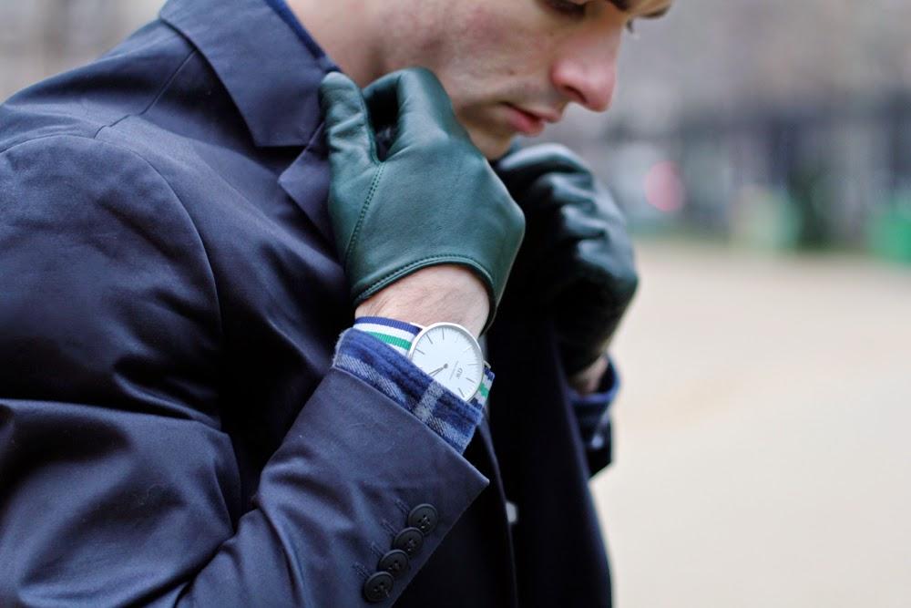 Blog Mode Homme Dandy Jack and Jones Blazer Chemise Aigle Shirt Asos Chino Pants Maison Fabre GLoves Brogue Boots Crampon Montre Daniel Wellington Watch Pochette Square