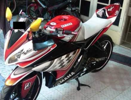 Top Modifikasi Yamaha New Vixion Airbrush
