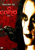 Capa do filme O Corvo, com Brandon Lee