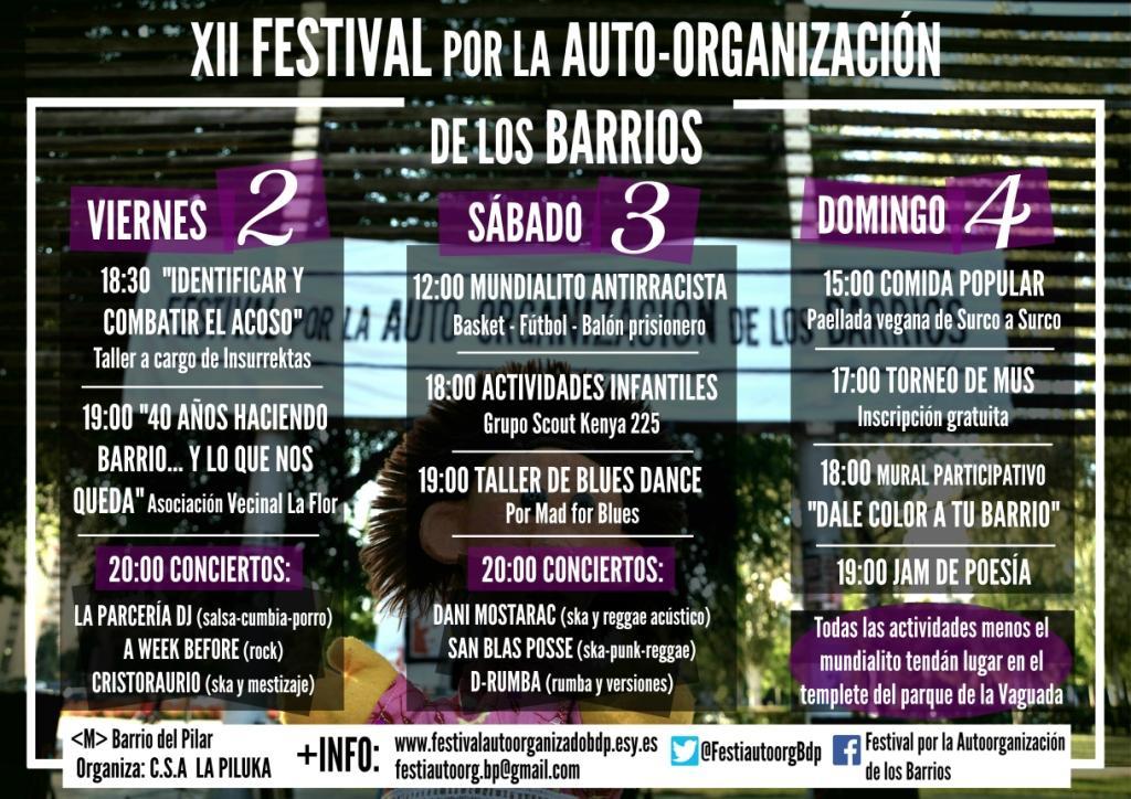 del 2 al 5 de junio En El Pilar