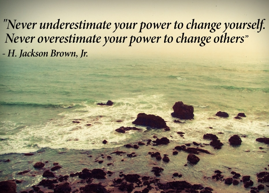 never underestimate your power to change yourself - Inspirational Positive Quotes with Images