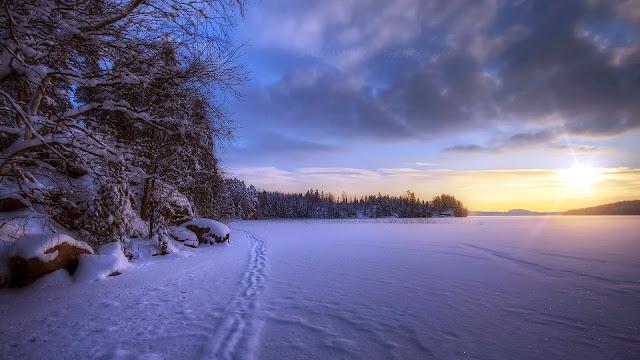 Imagen Paisaje de Atardecer en Inverno HD