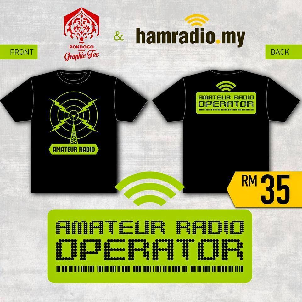 Amateur Radio Operator Malaysia Tshirt