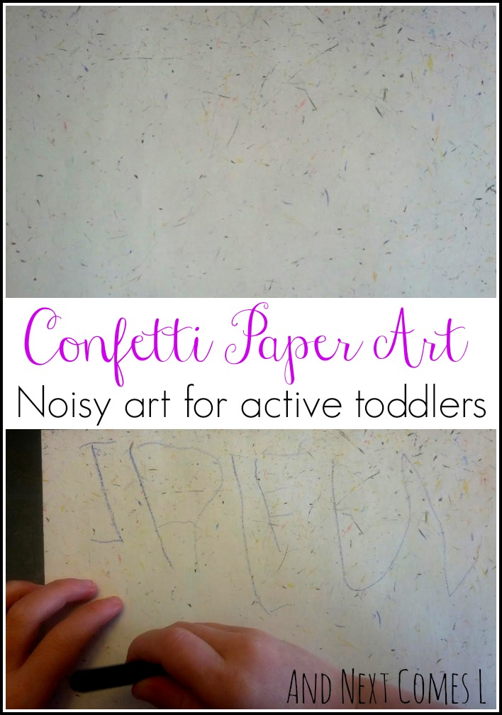 Confetti paper art for toddlers from And Next Comes L