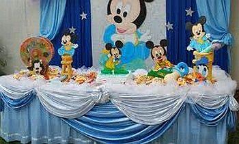 Fiestas infantiles decoraci n mickey mouse beb Ornamentacion con globos