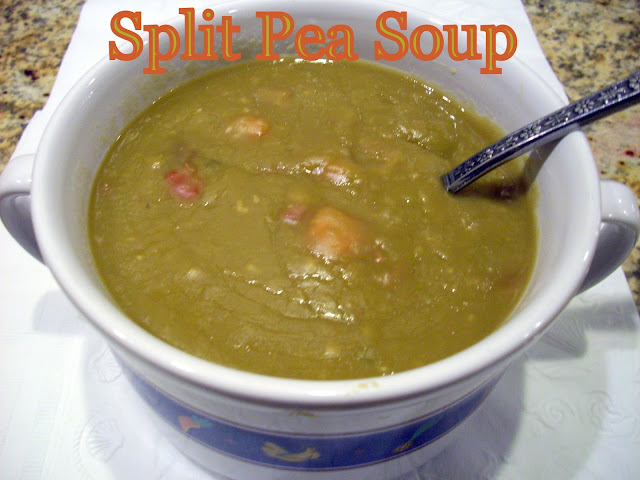 Flavors by Four: Slow Cooker Split Pea Soup