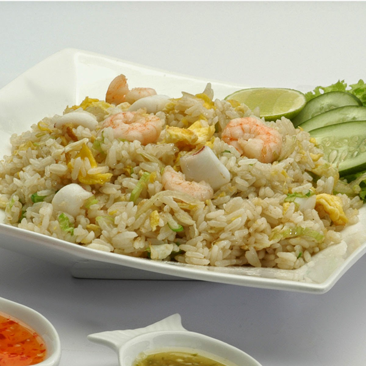 Fried Rice with Seafood, Thai Cooking Class with Easy Day Thailand