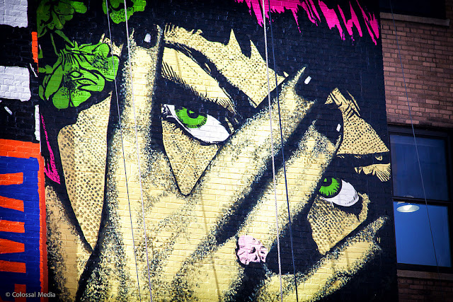 Street Art By Faile On The Streets Of New York City, USA details