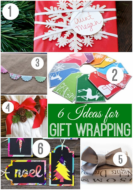 6 Creative Gift Wrapping Ideas #christmas