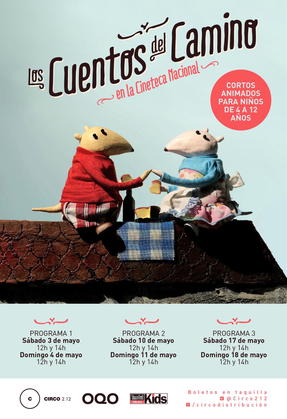 """Cortos animados para niños """"Los cuentos del camino"""" en la Cineteca Nacional"""