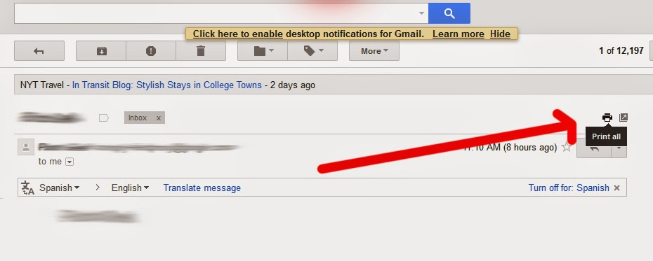 how to print from gmail