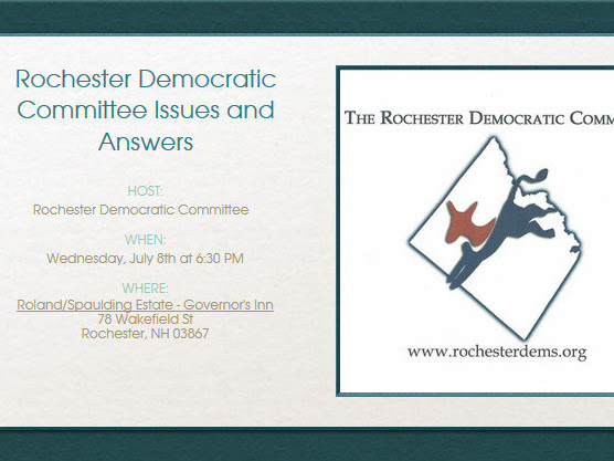 Rochester Democratic Committee Issues And Answers Meeting