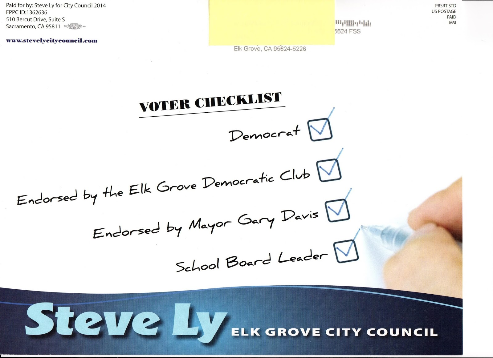 Ly Targets Elk Grove Party Partisans With Recent Mailer