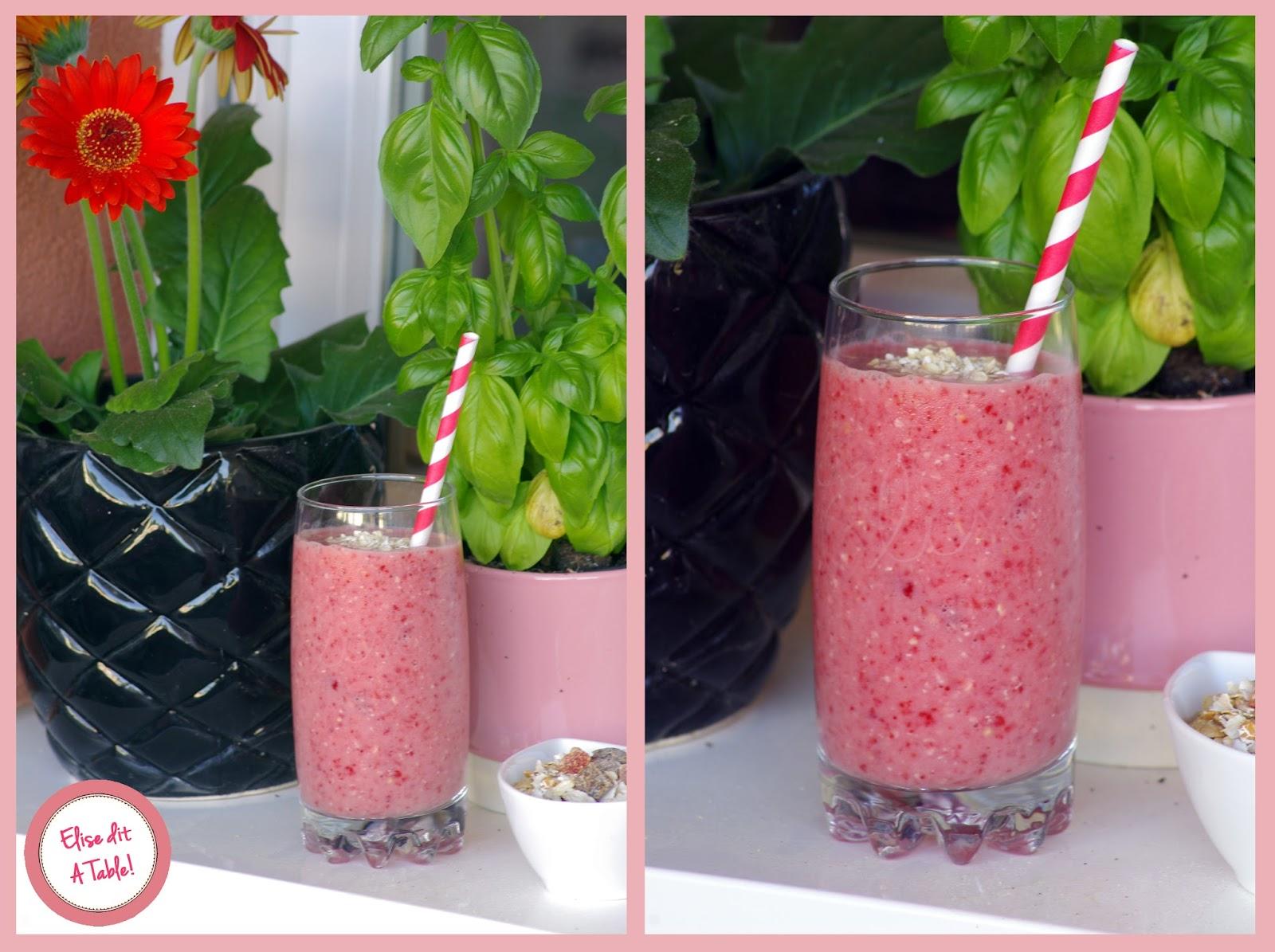 Smoothie fraise et avoine