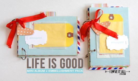 #lifeisgood #minialbum #scrapbook #summer #scrapbooking