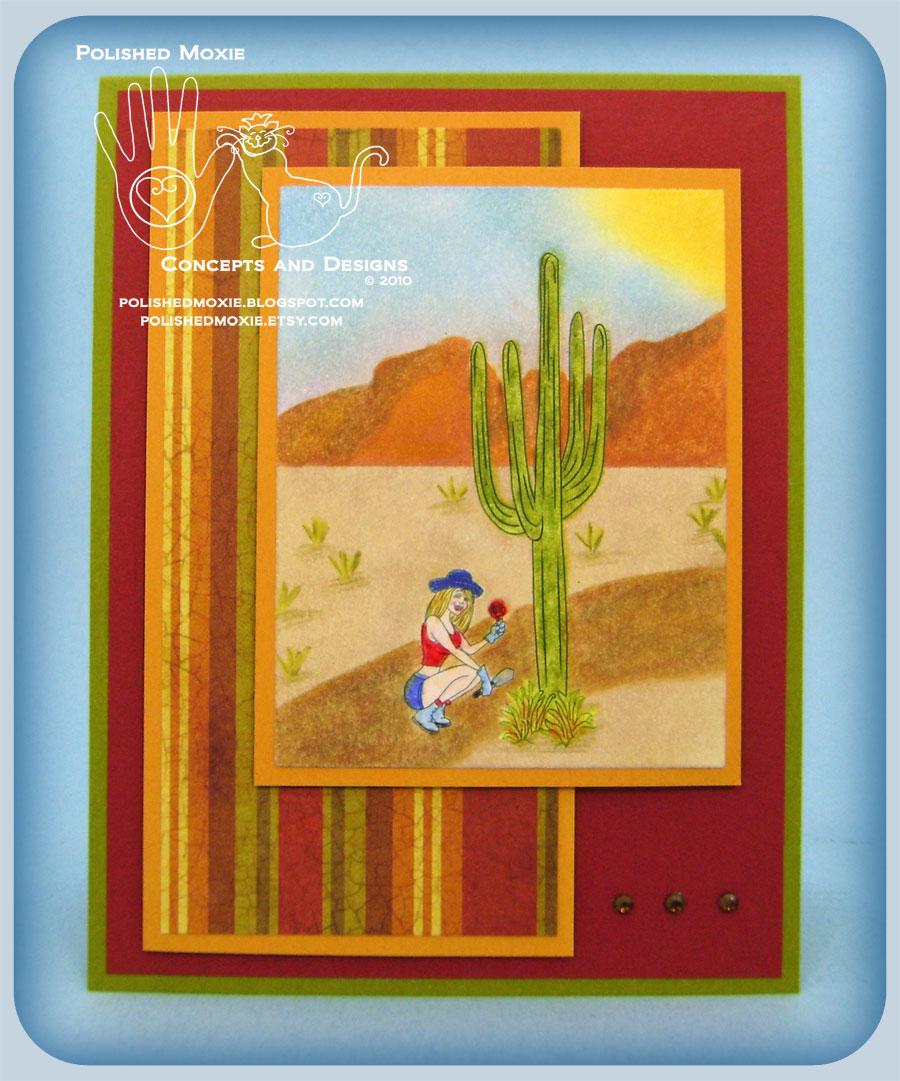 Picture of handmade Garden Desert card