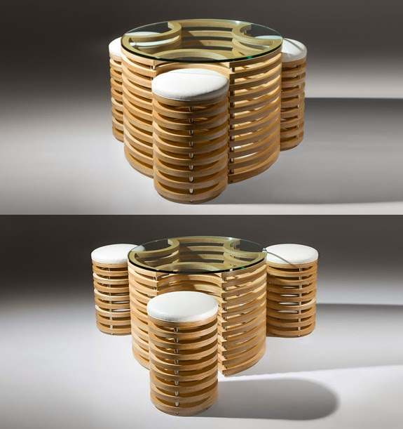 Exceptional 3D Bar Table And Stools By Martin Gallagher Good Ideas
