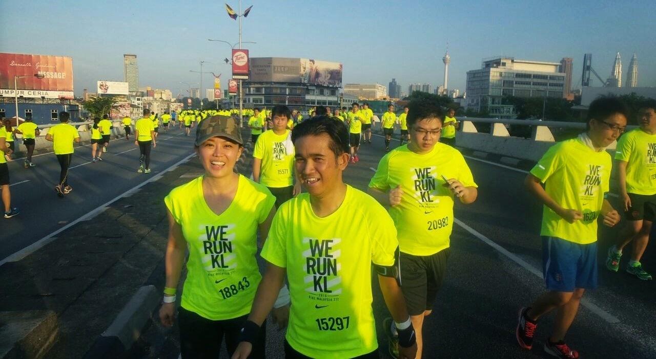 My First Half Marathon, Nike We Run KL 2015, We Run KL 2015, Half Marathon, Running, Finisher Medal, Running Buddy