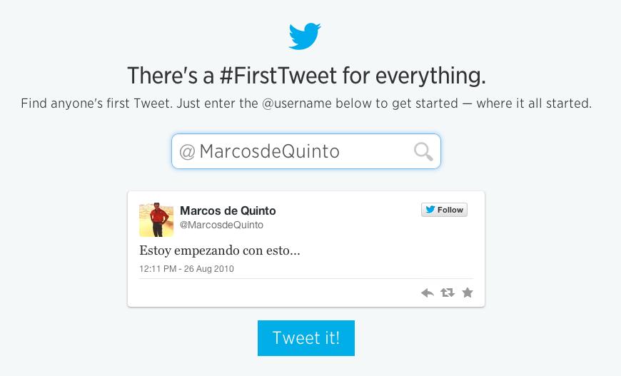 primer tweet de marcos de quinto