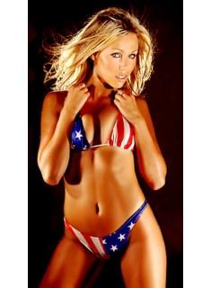 Models bikini American flag
