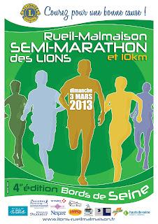 affiche semi-marathon des lions de Rueil-Malmaison 2013