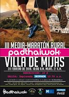 III MEDIA MARATON RURAL 21KM PADTHAIWOK VILLA DE MIJAS