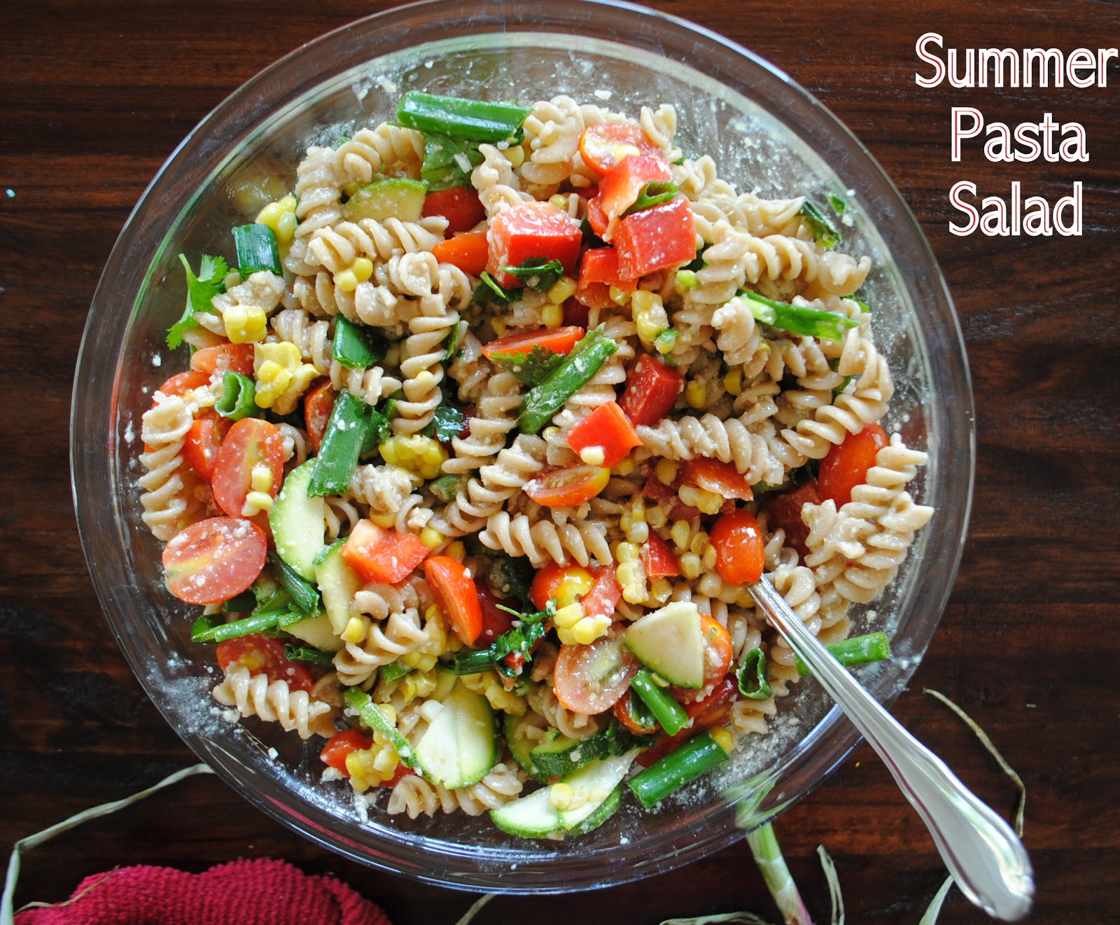 summer pasta salad with baby summer pasta salad with baby greens ...