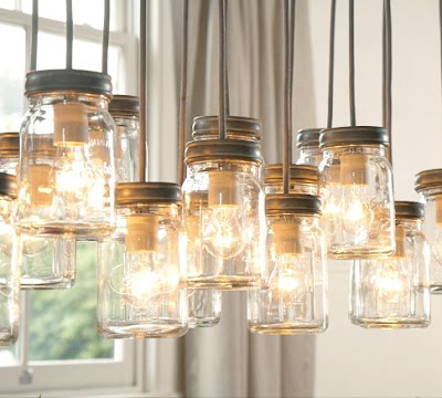 exeter 16-jar pendant light pottery barn