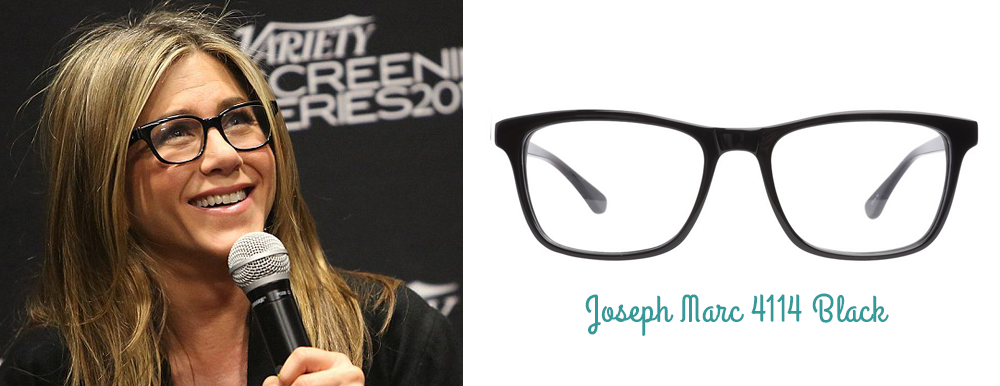 Jennifer Aniston lunettes montures Joseph Marc ClearlyContacts.ca