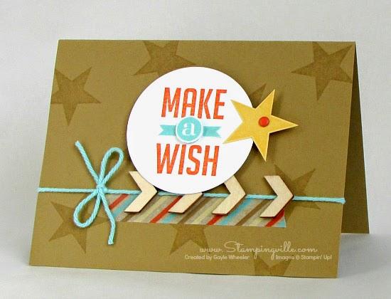 Great masculine birthday card: Make a Wish | Stampingville #StampinUp #cardmaking