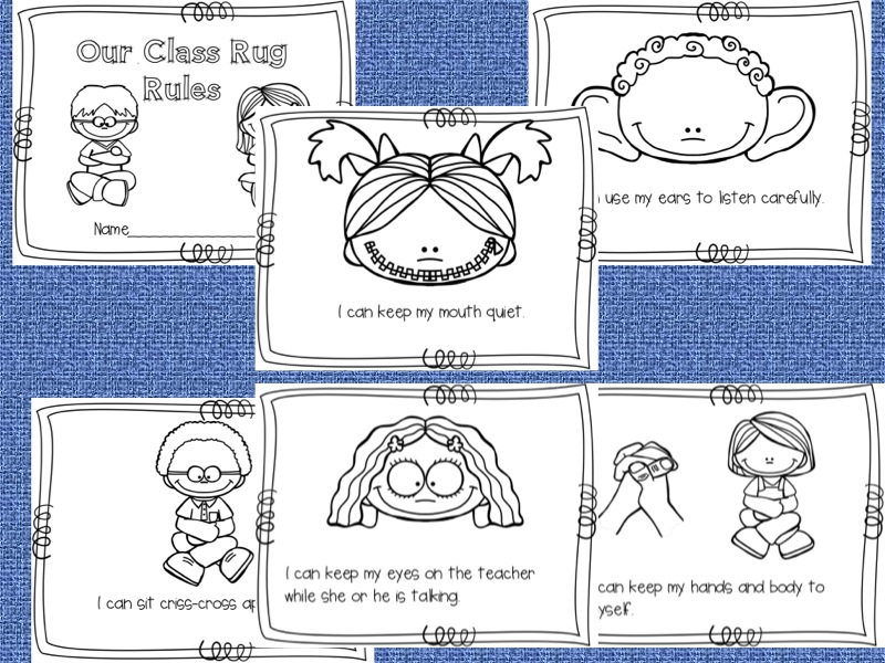 Fun Student Rug Rules Book For Students To Color And Review What The Are